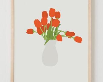 Fine Art Print.  Bouquet of Tulips. March 9, 2016.
