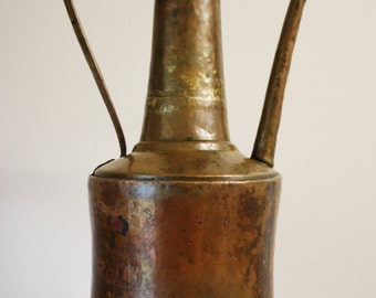 1800s ANTIQUE WATERING CAN - Brass and Copper