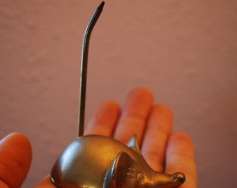 BRASS MOUSE Jewelry Holder Paper Weight