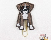 Glitter Vinyl Embroidered Planner Paper Clip - Boxer