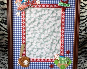 Home Run-8x10 Baseball Themed Picture Frame w/ 5x7 Matte