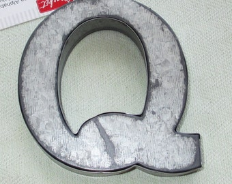 Large  Silver Metal Letter - Q - Personalize It