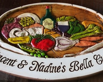 Personalized Italian Kitchen Sign