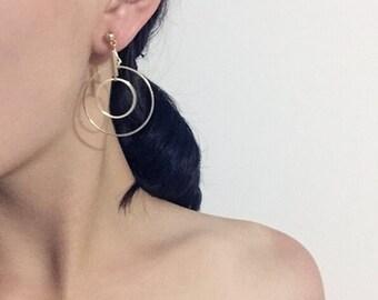 Geo circle - two ways earrings