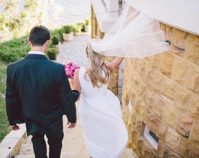 FINGERTIP Veil, bridal veil, wedding veil, blush, ivory, champagne, white color, blusher veil, classic veil, accessories