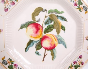 Vintage Nikko Dinner Plate Classic Collection Orchard David Davir Made in Japan Peaches and Berries