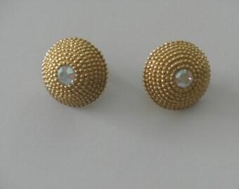 1980s AVON Clip-on Rhinestone Earrings
