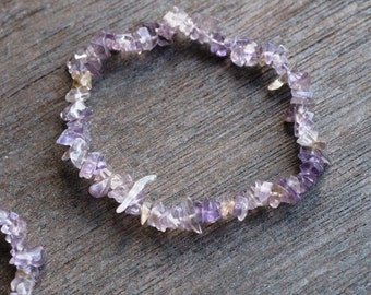 Ametrine Stretchy String Chip Bracelet B31