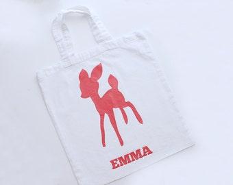 Tote bag sac en coton - Motif faon personnalisable