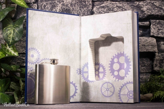 Hollow Book Safe & Hip Flask - Doctor Who (LEATHER BOUND) The Silent Stars Go By - Touched By An Angel - Magnetic