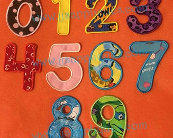 Fonts - Round Applique Numbers Machine Embroidery Designs 4 sizes for 4x4,  5x7 hoops - Instant Download