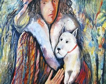 "original watercolor painting size 30x42 cm ""Nathalie"""