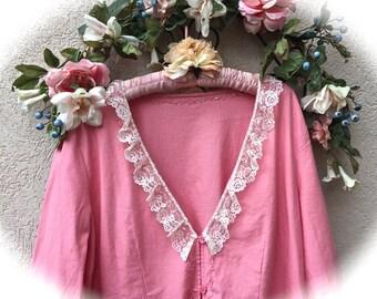 Romantic Feminine Sherbet Cardigan Top Charming Fairytale  Beauty Plus Size