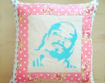 Snoop Dogg Pillow - Cross Stitch - Cross Stitch Pillow - Funny Pillow - Decorative Pillow