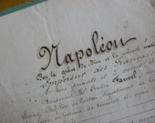 Antique French Paper, Napoleon 111, Documents, Legal, Hand Written Dated 1864