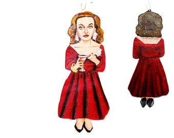 Bette Davis  Christmas Ornament