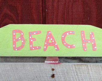 Rustic Beach Reclaimed Wood Sign, Hand Painted, Rustic and Distressed, Beach Decor, Wooden Beach Sign