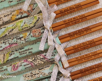 Customised Engraved Chopsticks/ Party Favours/ Wedding Favours (min 20pairs)