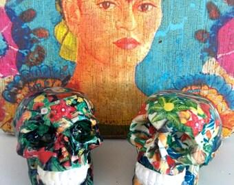 Frida Kahlo Black Skull