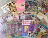 Vintage Stag Magazine Lot, sex Humor Magazines and Comics, 19 Piece Lot Vintage Magazines, Sex Humor, Blue Humor Comics