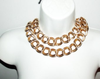 Vintage Heavy  chunky Golden Chain Necklace or belt