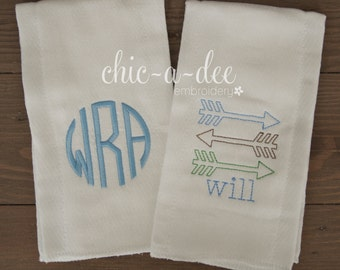 Personalized Burp Cloths, Set of 2