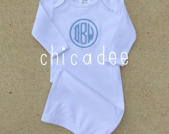 Monogrammed Layette Gown