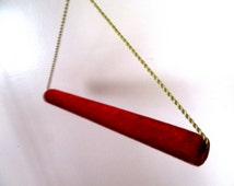 """BIG SUMMER SALE Vintage Beautiful quilted Red Velvet Fur stole or Quilt  Hanger w Gold braid cord 22"""" w"""