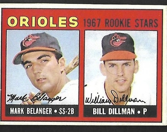 new just in 1967 Topps Mark Belanger #558 ROOKIE HIGH NUMBER
