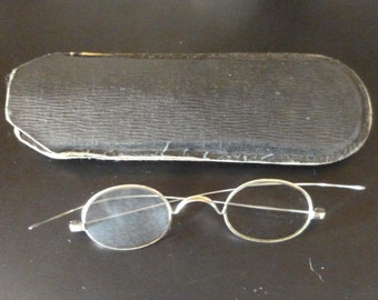 Vintage Spectacles Eye Glasses With long Ear Pieces French in case