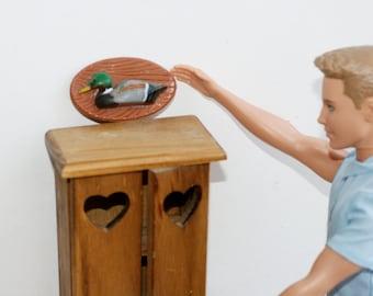 Miniature Mallard Duck Plaques, Doll House Scale Ducks, Miniature Man Cave.