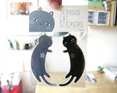 Stickers - Serious Cats - Set of 2