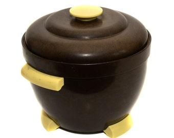 1950s Retro Bakelite Ice Bucket Thermos Model No 929 Made in England Vintage Ice Bucket Vintage Breweriana Barware Drinkware