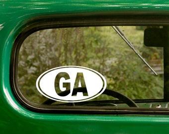 Oval Georgia Decal, Car Decal, GA Sticker, Georgia Sticker, Laptop Sticker, Oval Sticker, Bumper, Vinyl Decal, Car Sticker
