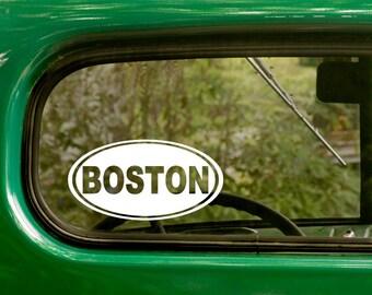 Oval Boston Decal, Boston Sticker, Massachusetts, Car Decal, Laptop Sticker, Oval Sticker, Bumper, Vinyl Decal, Car Sticker