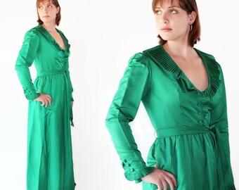 Mollie Parnis Dress, Emerald Green, Vintage Wedding, Christmas