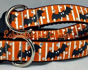 Halloween Dog Collar Bat Dog Collar