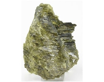 Clinozoisite Epidote Gemmy Crystal Cluster Olive Green Mineral Specimen, Wear it or Display it