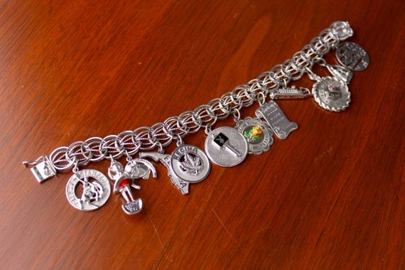 sterling silver charm bracelet calgary by notmadeinchinafinds