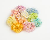 100 pcs - Mixed soft colors medium cherry blossoms paper flowers - Wholesale pack