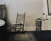 Original Antique Photograph The Empty Chair