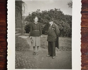 Original Antique Photograph Mother & Father at Home 1944