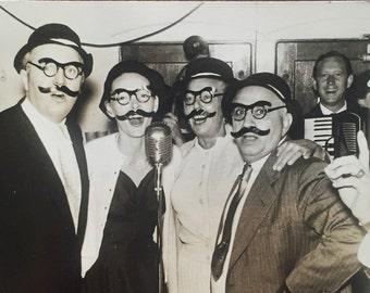 Original Antique Photograph Mustache Men