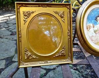 Gold Frame, Oval Frame, Italy, Italian Frame, Gold Floral Frame, Photo Frame, Wedding, Shabby, Cottage, Rustic, Frame, Oval Matt Frame
