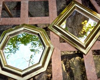 Mirror, Gold Mirror, 5 x 5 Mirror, Syroco Mirror, Square Mirror, Burwood Mirror 2808 1A, Small Mirror, Accent Mirror, Regency, Casa Karma