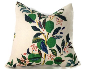Schumacher Citrus Garden Pillow Decorative Throw Pillow Cover Toss Pillow Accent Pillow Nature
