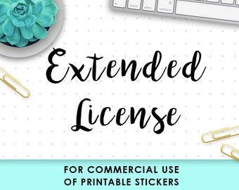 EXTENDED LICENSE for Commercial Use. Printable Planner Stickers. Downloadable Silhouette Cameo File. Print and Cut Ready. Downloads by Nedti