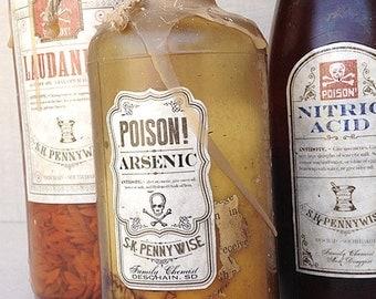 SALE : Poison Bottle Halloween Decor Instant Collection