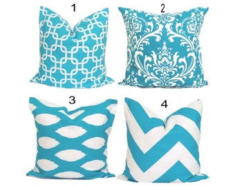 Turquoise Pillows Sale. Turquoise Pillow Cover, Decorative Pillow, Throw Pillow, Pillows, Accent Pillow, Pillow Covers, All Sizes, Cushion