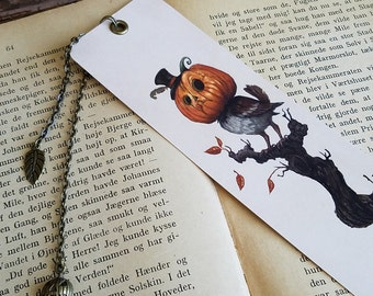 Bookmark: Pumpkin Sparrows